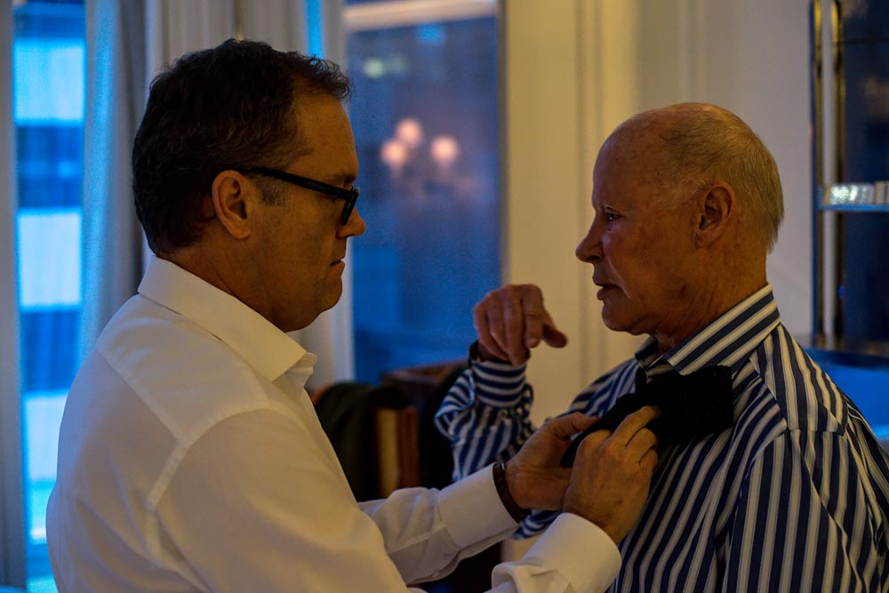 Documentary unique wedding NYC Same Sex Couple private moment tie, Steve Giovinco
