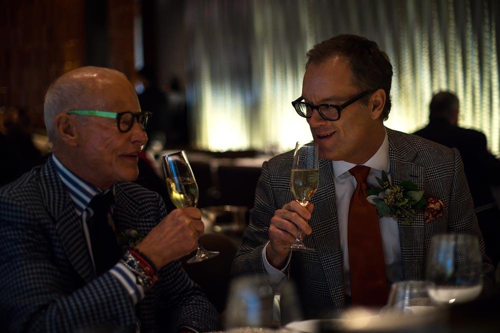 Documentary unique wedding NYC Same Sex Couple toast, Steve Giovinco
