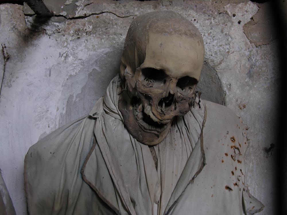 Contemporary fine art photography skull catacombs Sicily Steve Giovinco