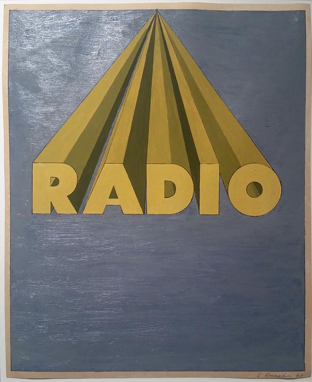 Whats on: Radio, Ed Ruscha, at Auction, Christies @SteveGiovinco