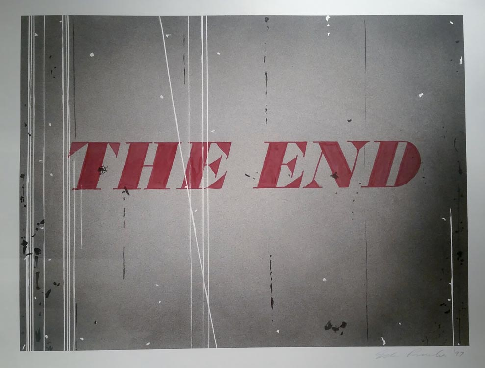 The End: Ed Ruscha, at Auction at Christies @SteveGiovinco
