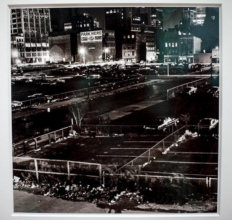 "Peter Hujar, West Side Parking Lots, NYC, photograph in ""America Is Hard to See,"" Whitney Museum"