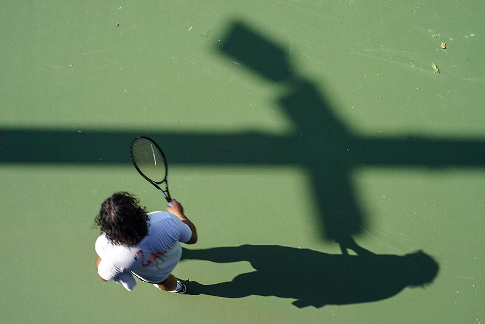 The Art of Tennis: Views of the US Open [Photographs], Practice Courts, Steve Giovinco #USOpen