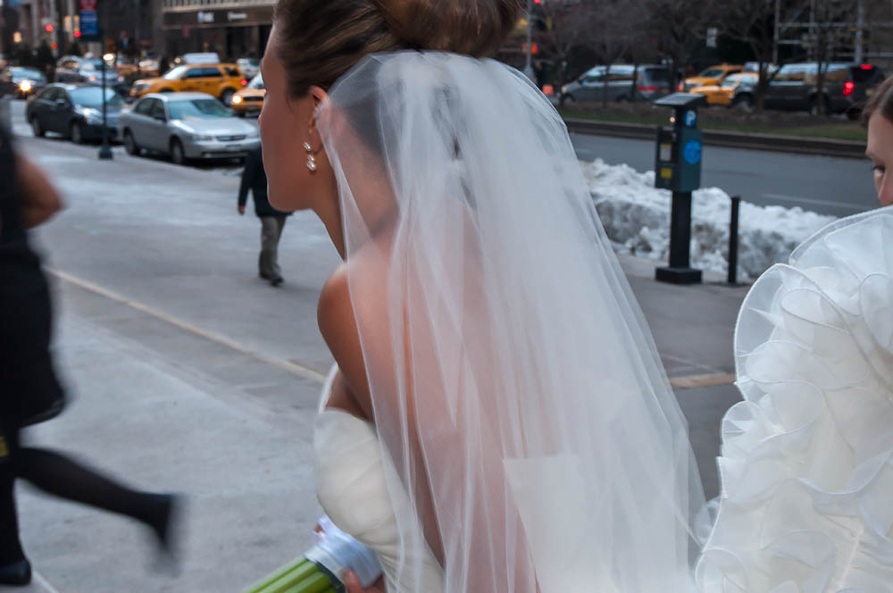 Fine art documentary wedding commission photography in NYC, street bride, Steve Giovinco