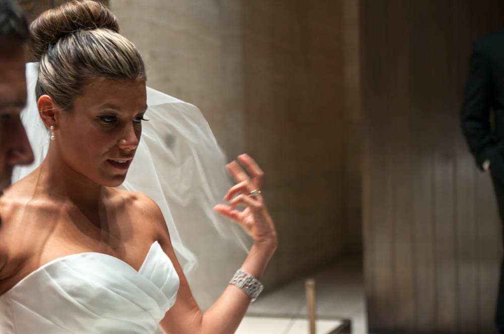 Fine art documentary wedding commission photography in NYC, bride in the Four Seasons, Steve Giovinco